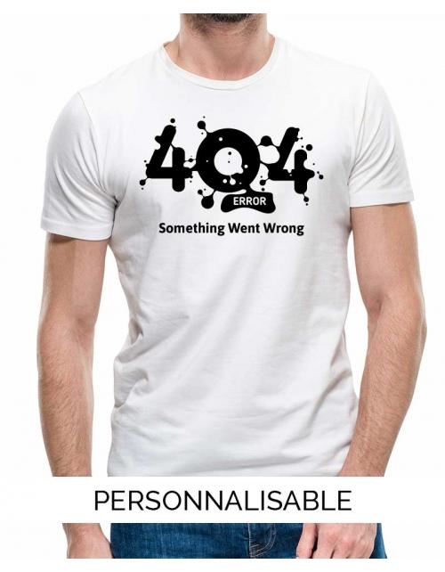 T-shirt homme Erreur 404 pilou et lilou
