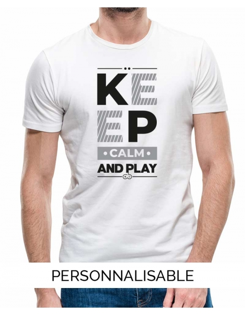 T-shirt homme Keep calm and play
