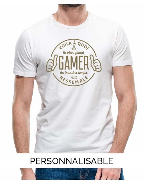 T-shirt homme le plus grand gamer pilou et lilou