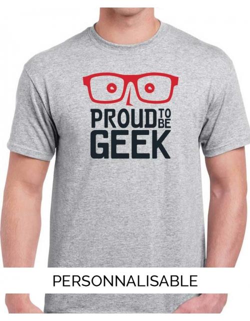 T-shirt homme Proud to be geek pilou et lilou