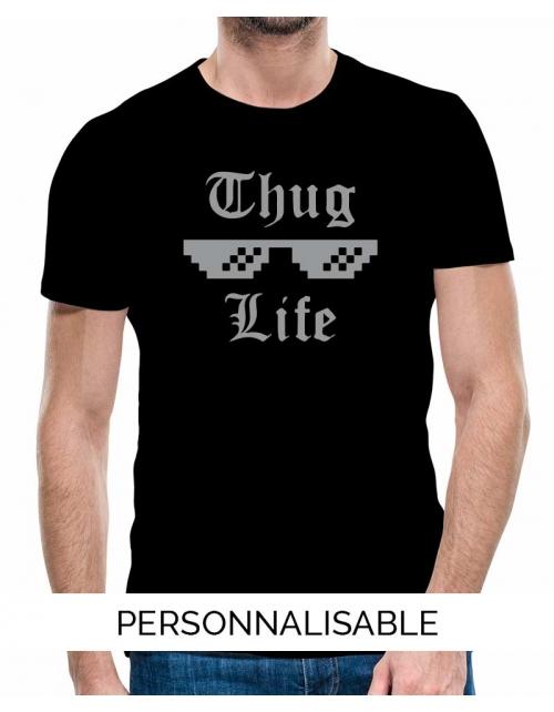 T-shirt homme Thug life pilou et lilou