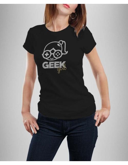 tshirt femme geek girl pilou et lilou