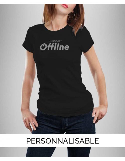 Tshirt femme offline pilou et lilou