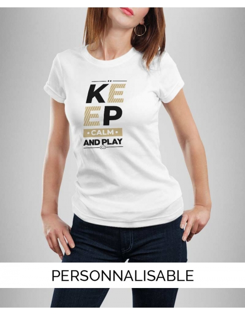 T-shirt femme Keep calm and Play