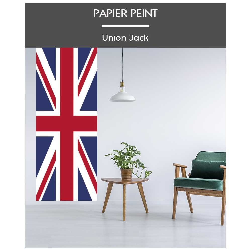 l de papier peint intiss drapeau anglais union jack. Black Bedroom Furniture Sets. Home Design Ideas