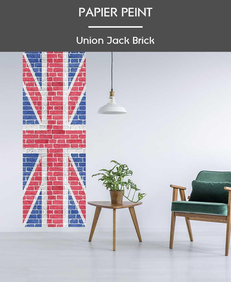 l de papier peint intiss drapeau anglais union jack. Black Bedroom Furniture Sets. Home Design Ideas