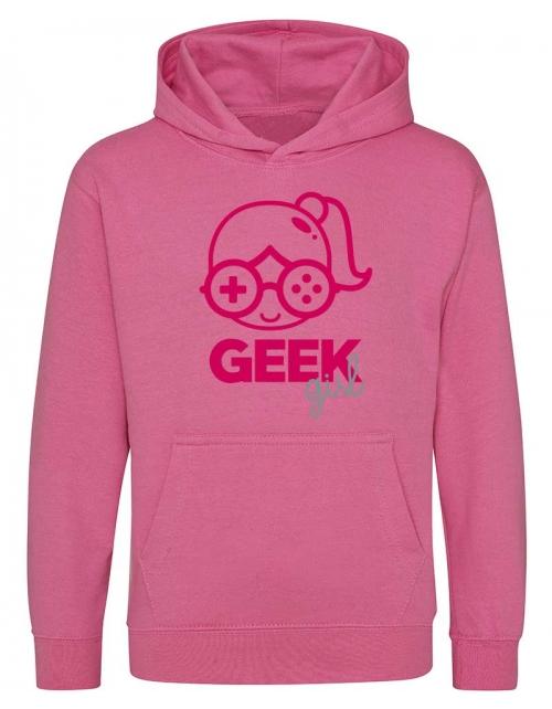 sweat a capuche fille geek girl pilou et lilou