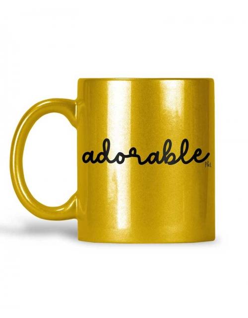 Mug Adorable Métallisé Paillettes