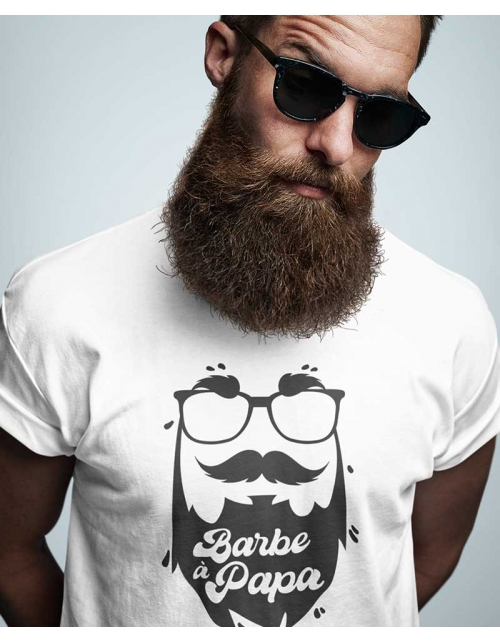 T-shirt personnalisé Papa - Barbe à Papa