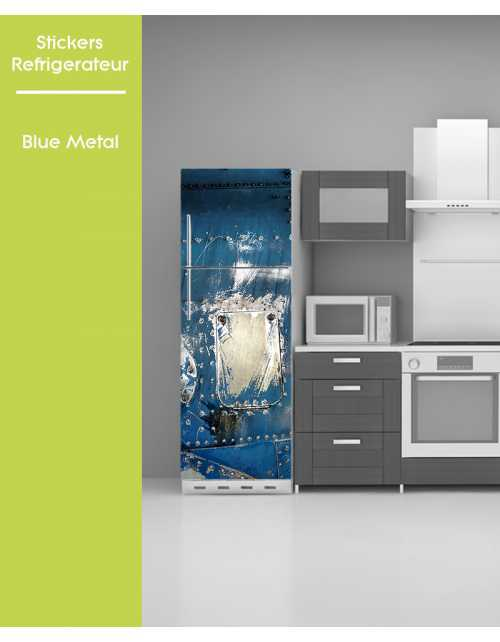 Sticker pour frigo - Blue Metal
