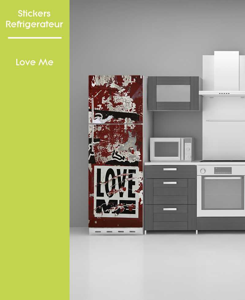 Sticker pour frigo - Love Me