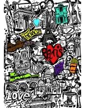Poster à colorier Paris Tag