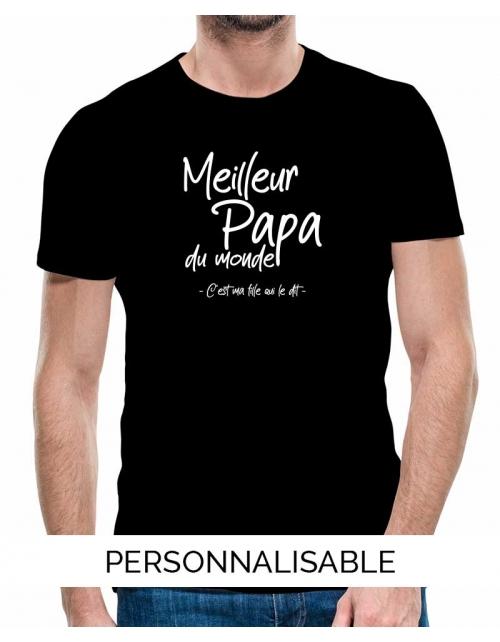 T-shirt Meilleur Papa - Ma Fille