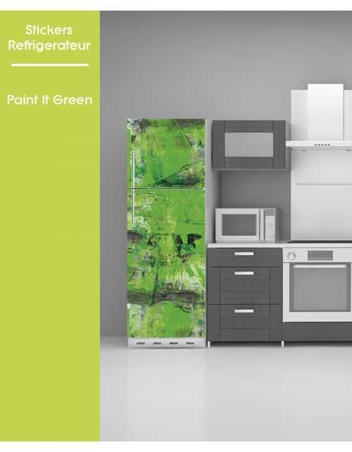 Sticker pour frigo - Paint it Green