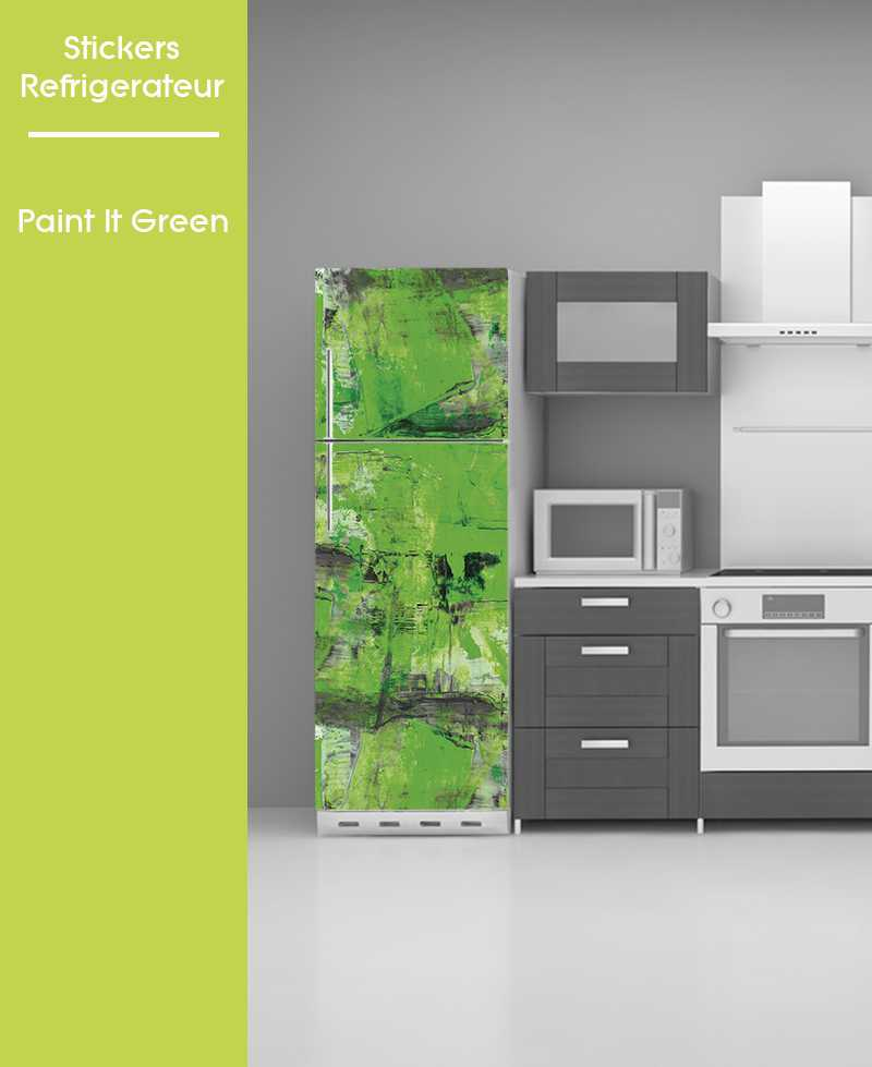 Sticker pour frigo - Paint in Green