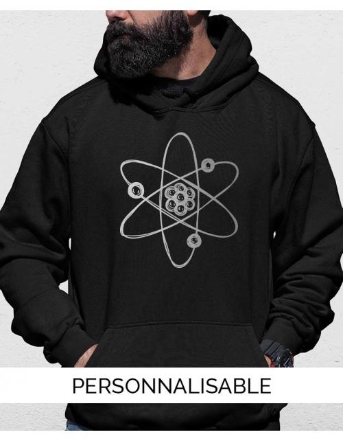 sweat a capuche atome geek pilou et lilou