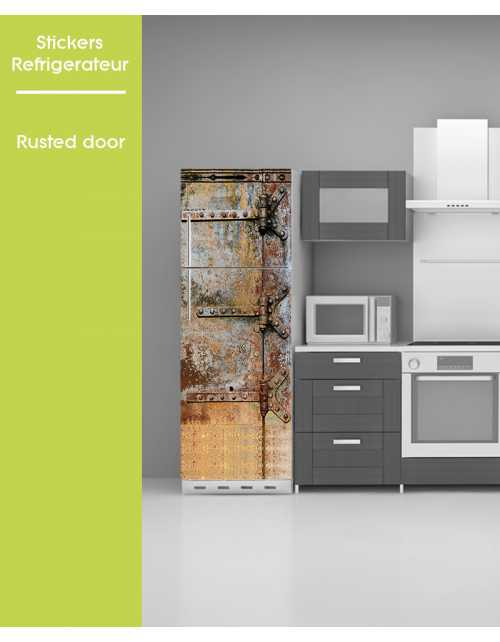 Sticker pour frigo - Rusted Door