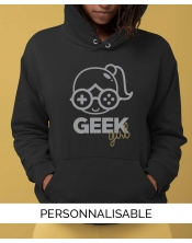 sweat capuche femme geek girl pilou et lilou