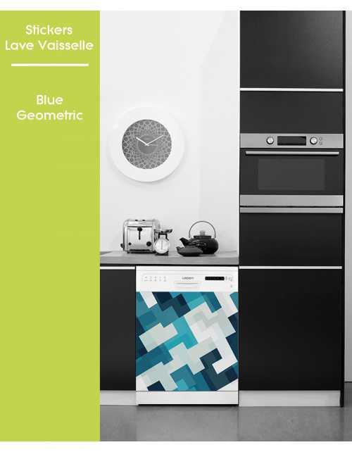 Sticker pour Lave Vaisselle - Blue Geometric