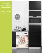 Sticker pour Lave Vaisselle - Color circle