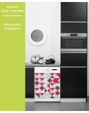 Sticker pour Lave Vaisselle - Geometric Raspberry