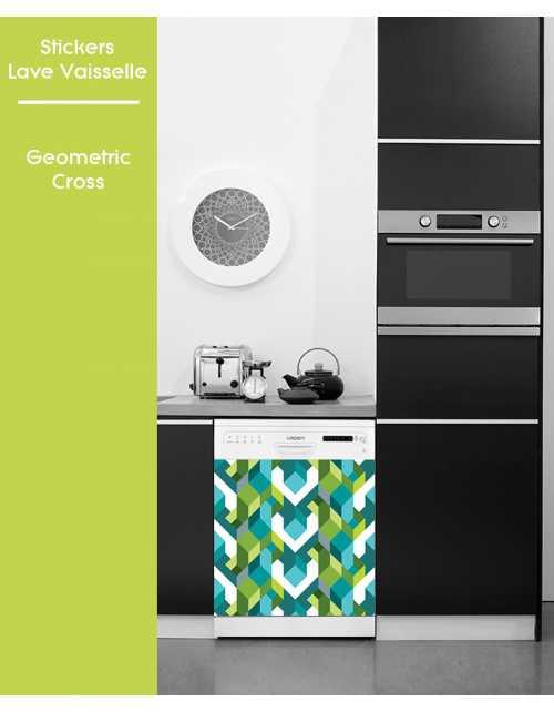 Sticker pour Lave Vaisselle - Geometric Cross