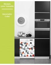 Sticker pour Lave Vaisselle - Geometric Cube