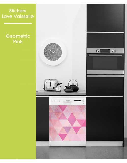 Sticker pour Lave Vaisselle - Geometric Pink