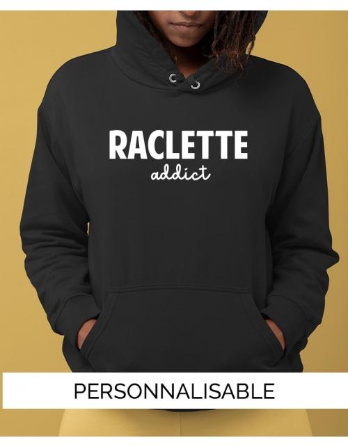 Sweat à capuche à personnaliser - Raclette Addict - Collection Pilou et Lilou