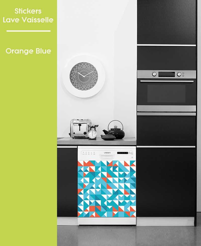 Sticker pour Lave Vaisselle - Orange Blue