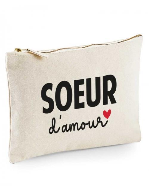 Pochette -Soeur d'amour - Pilou et Lilou