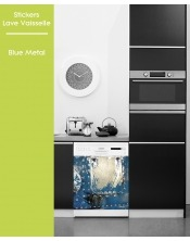 Sticker pour Lave Vaisselle - Blue Metal