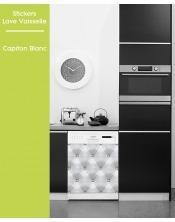 Sticker pour Lave Vaisselle -Capiton Blanc