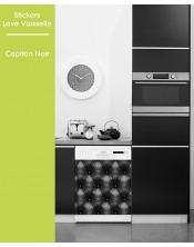 Sticker pour Lave Vaisselle -Capiton Noir