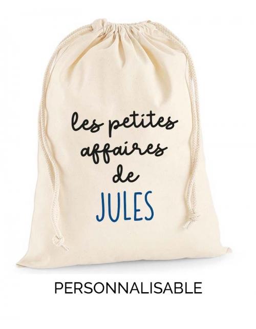 Pochon les petites affaires de - A personnaliser - Pilou et Lilou