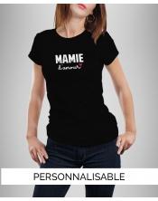 T-shirt Mamie Amour à personnaliser - Pilou et Lilou