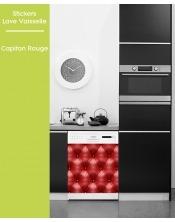 Sticker pour Lave Vaisselle -Capiton Rouge