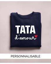 Pull à personnaliser - Tata Amour - Collection Pilou et Lilou