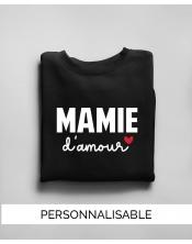 Pull à personnaliser - Mamie Amour - Collection Pilou et Lilou