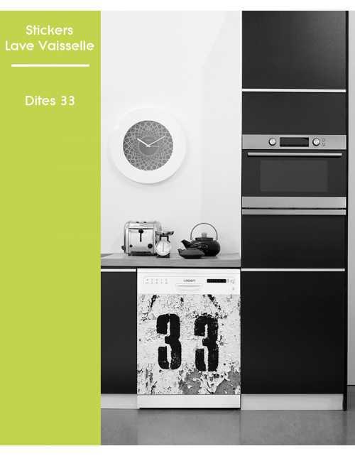 Sticker pour Lave Vaisselle - Dites 33