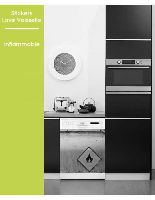 Sticker pour Lave Vaisselle - Inflamable