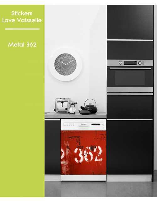 Sticker pour Lave Vaisselle - Metal 362