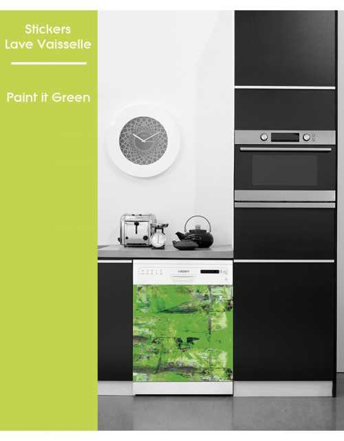 Sticker pour Lave Vaisselle - Paint It Green