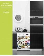 Sticker pour Lave Vaisselle - Papers