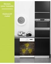 Sticker pour Lave Vaisselle - Radioactif metal