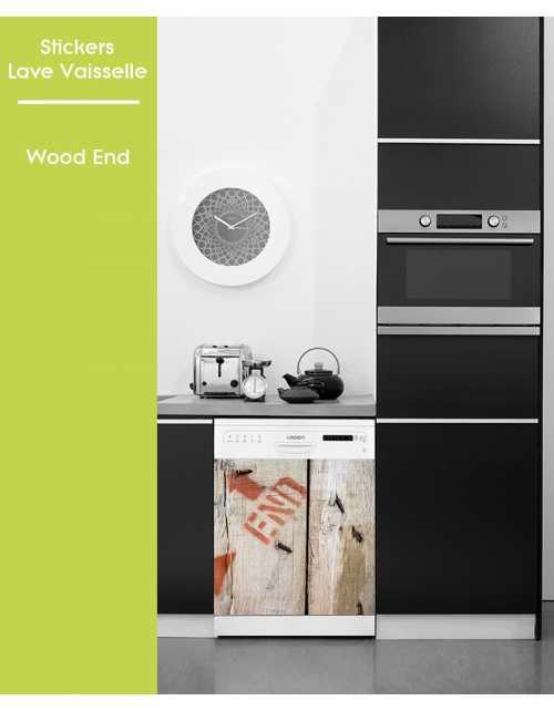 Sticker pour Lave Vaisselle - Wood End