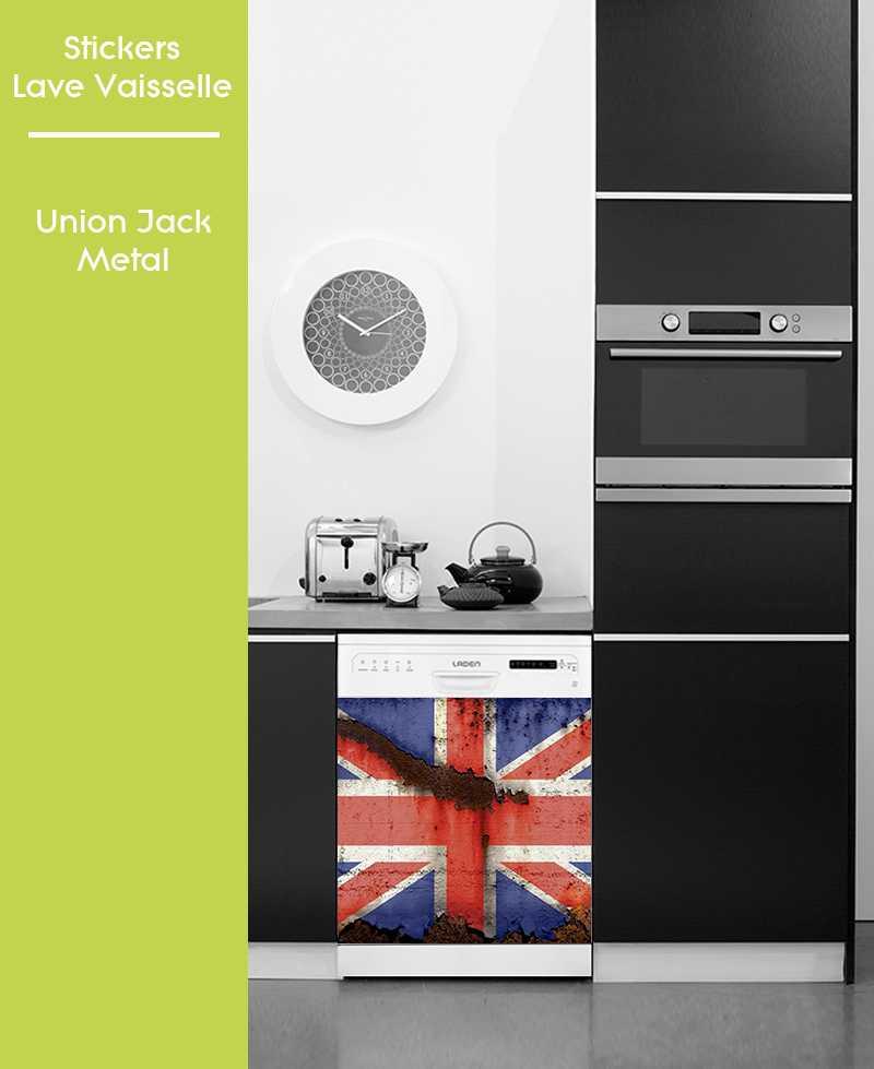 Sticker pour Lave Vaisselle - Union Jack Metal