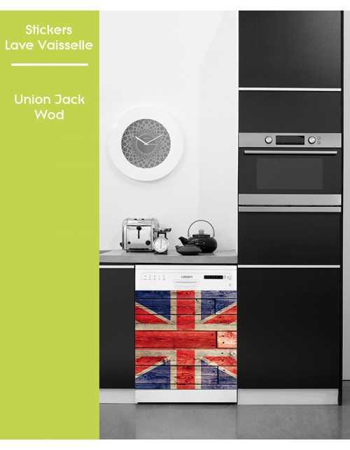 Sticker pour Lave Vaisselle - Union Jack Wood