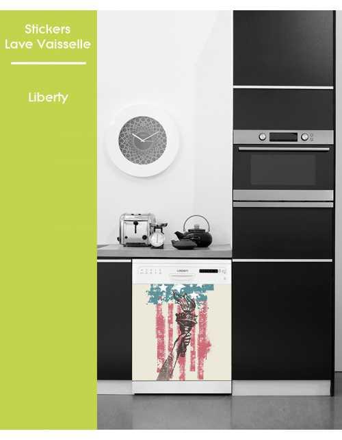 Sticker pour Lave Vaisselle - Liberty