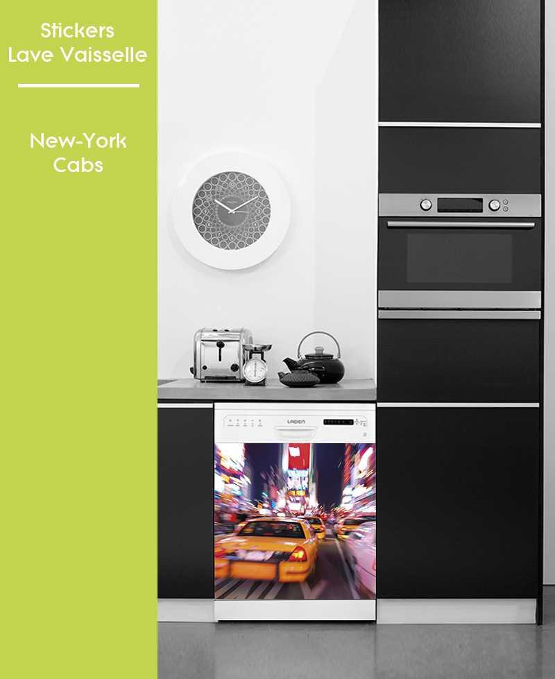 Sticker pour Lave Vaisselle - New York Cabs